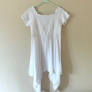 White summer flowing baby doll top